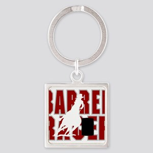 BARREL RACER [maroon] Square Keychain